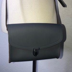 The Cambridge Satchel Company Gray Push Lock Bag